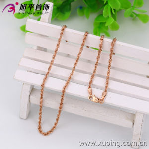 Xuping Fashion Rose Gold Color Neutral Necklace (42520) pictures & photos