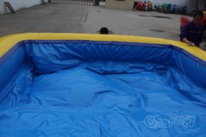 Inflatable Obstacle Course with Water Slide Chob467 pictures & photos