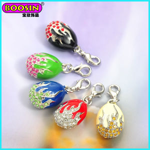 Wholesale Popular Openable Enamel Russia Faberge Charms, Egg Pendant Jewelry pictures & photos