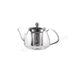 High Quality Glass Teapot with Stainless Steel Strainer pictures & photos