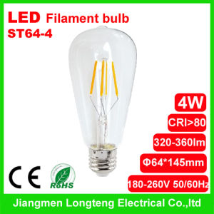 New 4W LED Filament Bulb (ST64-4)