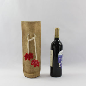 Cheap Drawstring Jute Bags for Wine Bottles pictures & photos