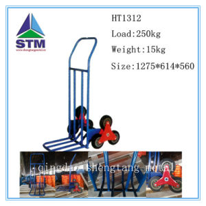 Qingdao Six Wheel Hand Trolley for Climbing Stairs pictures & photos