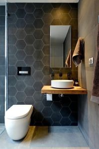 New Product Glazed Hexagonal Black Wall Tile pictures & photos