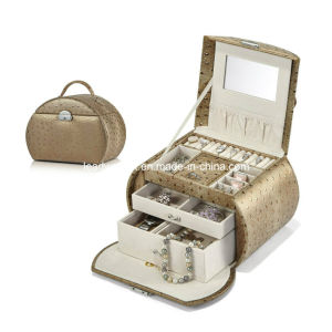 Brown Jewelry Box with Mirror and Storage Drawers pictures & photos