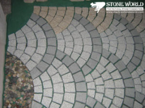High Quality Gold/Rusty Slate Fan Shape Flagstone Paver on Mesh pictures & photos