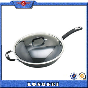 Best Selling New Stainless Steel and Bakelite Handle Aluminum Wok Pan pictures & photos