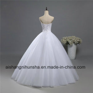 Fashion Crystal Beaded Wedding Dress for Brides Formal Sweetheart pictures & photos