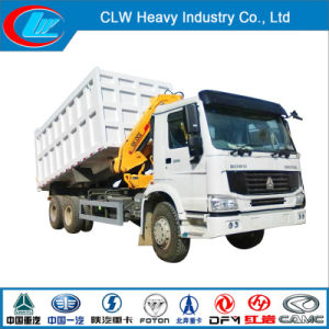 Cnhtc Sinotruk HOWO A7 Cargo Truck Crane with Crane pictures & photos