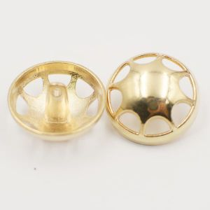 Fashion Hollow out Cap Alloy Metal Shank Sewing Button pictures & photos