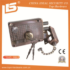 Security High Quality Door Rim Lock (T695.98A3) pictures & photos