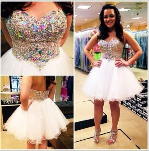 Sweetheart Party Homecoming Gown Vestidos Crystal Mini Prom Cocktail Dresses Y2016 pictures & photos