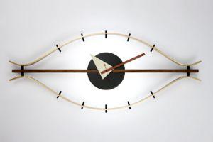 Walnut Brass Aluminum Classic Eye Clock pictures & photos