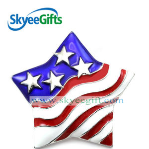 Flag Style Star Shaped Metal Badge pictures & photos