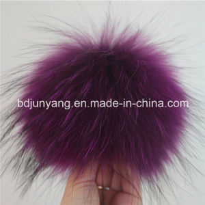 Ladies Decoration Raccoon Fur Pompons Keychain pictures & photos