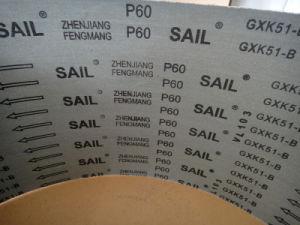 Aluminum Oxide Grinding Tool Abrasive Cloth Sail Gxk51-B 60# pictures & photos