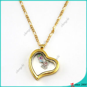 Gold Lazy Heart Glass Lockets for Fashion Accessories (FL16040834) pictures & photos
