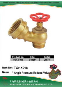 Pressure Reduce Fire Hydrant Angle Valve: Uni70 pictures & photos