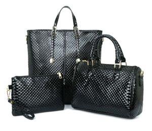 Leisure 3PCS Set Bag Ladies Fashion Leather Designer Handbag (XM0229) pictures & photos