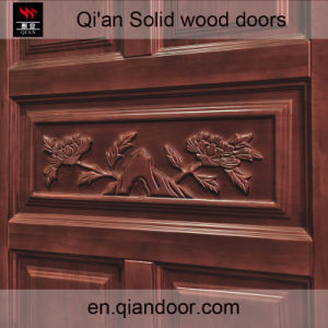 Oak Solid Wood Security Door pictures & photos