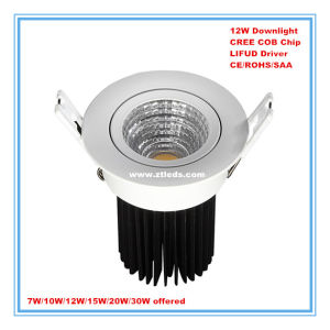 CREE COB 12W LED Downlight for Hotel/Home/Office/Supermarket Lighting pictures & photos