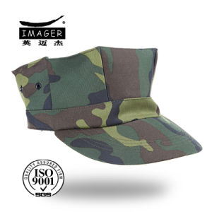 Camouflage Octagonal Military Cap with Peak pictures & photos