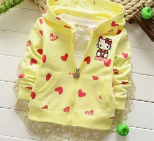 2015 Autumn Korean Girls Lovely Kitty Cat Cotton Jacket/ Hoody Cotton Boutique Hot Explosion Model Jacket Kd1119 pictures & photos