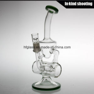 Recycler Oil Rig Hitman Glass Water Hookah Shisha Bent Glass Heady Tobacco Bubbler Wholesale Fancy Glass Smoking Pipe pictures & photos
