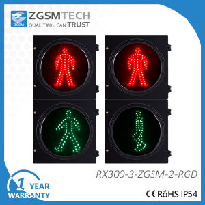 Red and Green Man Static LED Traffic Light with Waiting Signal for Pedestrian Crossing pictures & photos