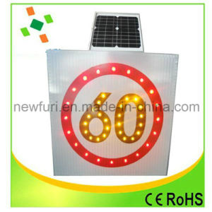 Aluminum Speed Limited Solar Traffic Sign pictures & photos