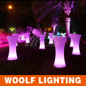 Modern Light up Rechargeable Plastic LED Bar Table pictures & photos