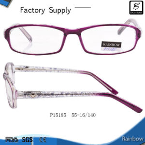 Plastic New Shape Eyeglasses in Low Price Optical (P15185)