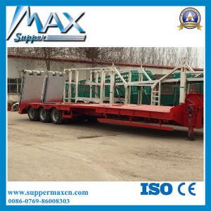 2/3 Axles 30t-120t Low Flat Bed Cargo Truck Trailer Semi Trailer pictures & photos