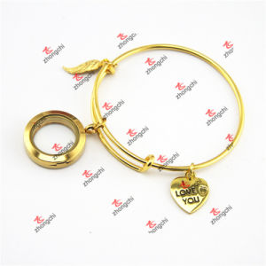 Gold Charms Dangles Brass Bracelet Bangles Jewelry (ODE60229)
