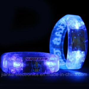 Plastic Blue Light LED Blinking Bracelet with Logo Print (4011) pictures & photos