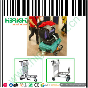 Baggage Airport Trolley with Three Wheels pictures & photos