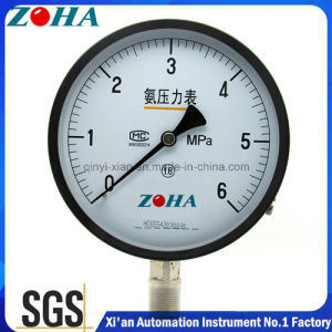 100mm 150mm Ammonia Pressure Gauge with Carbon Steel Connector pictures & photos