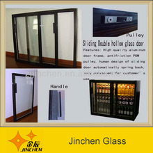 Liquor Cabinet Glass Door in Supermarket