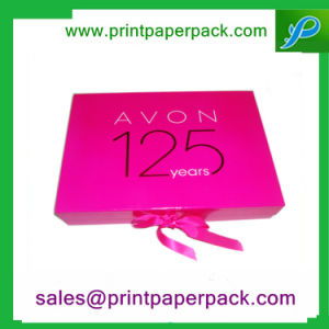 Paper Packaging Box with Ribbon and Tissue Paper Inserts pictures & photos
