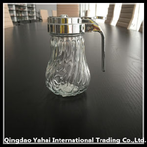 500ml Diagonal Pattern Glass Storage Jar with Lid pictures & photos