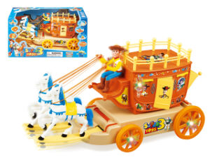 Battery Operated Toy B/O Carriage Bump & Go Car (H1215104) pictures & photos