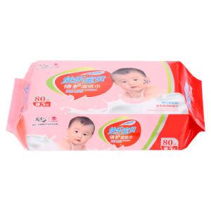 80PCS Economic High Quality Cotton Non-Woven Baby Wet Wipe pictures & photos