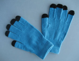 10g Polyester Liner Five Finger Touch Screen Glove-T5102 pictures & photos