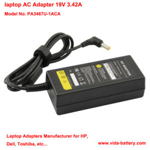 OEM 19V 3.42A 65W Power Adapter/Battery Charger/Power Supply for Toshiba PA3467u-1aca pictures & photos