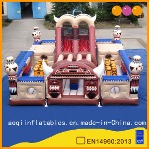 Inflatable Amusement Park Playhouse Indian Obstacles Land (AQ01114) pictures & photos
