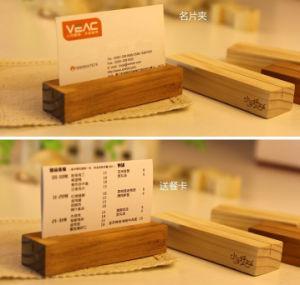 Custom Nature Wooden Menu Desk Base pictures & photos