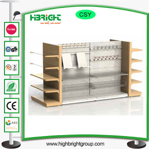 Supermarket Metal Wood Racks and Shelves pictures & photos