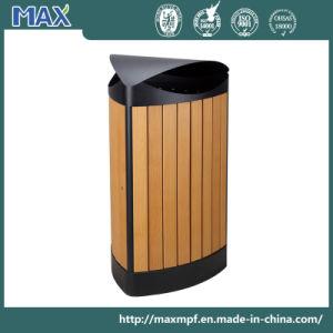 European-Style Metal Plastic Wood Street Trash Bin pictures & photos