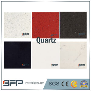 Black/White/Beige/Red Slabs Quartz for Kitchen Tops/ Floor Tiles pictures & photos