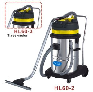 60L Stainless Steel Wet and Dry Vacuum Cleaner with Wheels pictures & photos